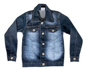 Jaqueta Jeans Infantil Meninos Masculina Tamanhos 1-2-3-4-6