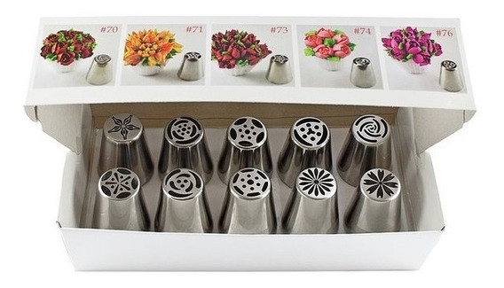 Boquillas Rusas Parpen - Caja Con 10 Modelos