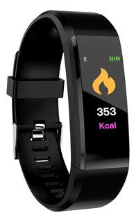 Relógio Inteligente Esporte Fitness Tracker Preto