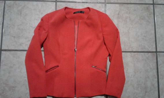 Saco Blazer Naranja Mujer