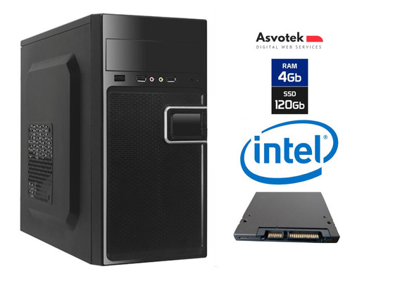 Computador Intel Celeron Dual Core 4gb Ssd 120 Linux Asvotek