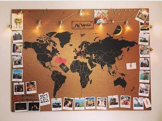 Planisferio Mapamundi Mapa De Corcho