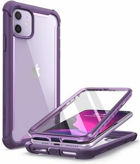 Funda iPhone 11 6.1 2019 Con Mica I-blason Ares, Morado