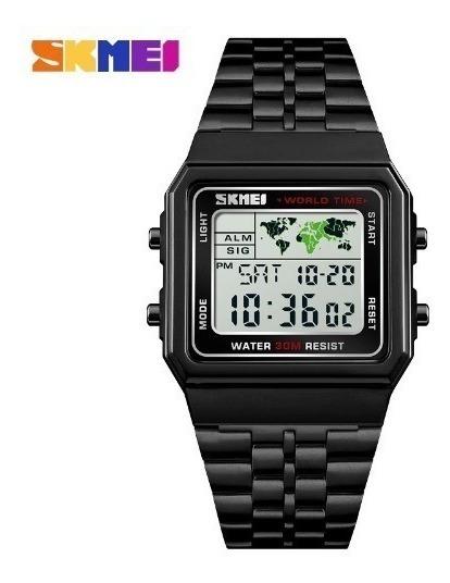 Relógio Skmei 1338 Digital Esportivo Masculino Preto Brinde