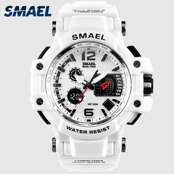 Relógio Masculino Smael Branco À Prova D