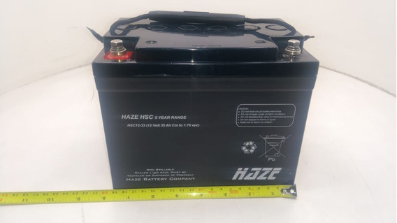 Bateria Selada 12v 35ah Haze Hsc12-33 Hma12-33 Vida: 3 Anos