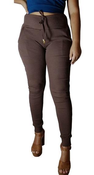 Calça Feminina Ribana Canelada Tipo Moleton Inverno Promoção