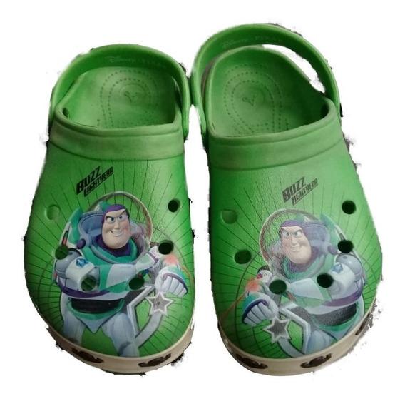 Sandalias Gomones Crocs Addnice Buzz Lightyear Para Nene