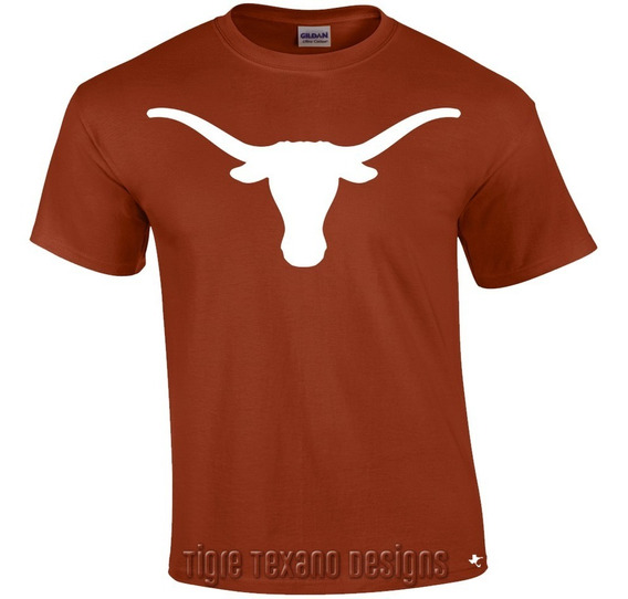 Playera Longhorns Universidad Texas M01 Tigre Texano Designs