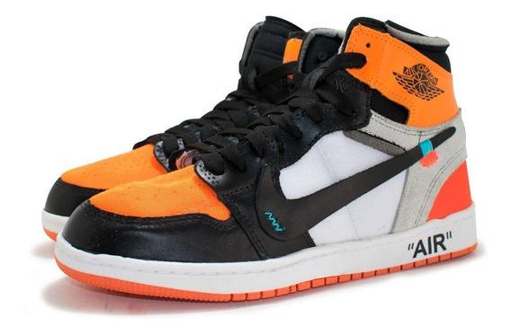 Tenis Botinha Nike Air Jordan Off White Original