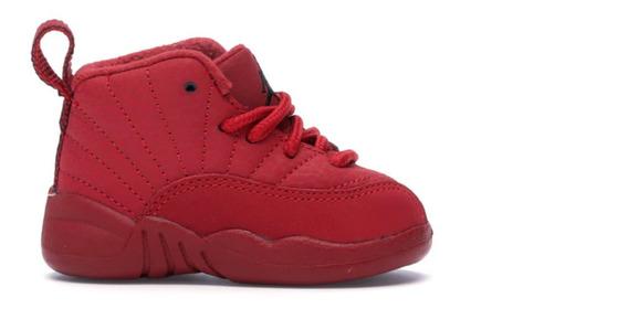 Tenis Jordan 12 Retro (td) Rojo Para Bebé Originales