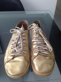 Tênis Osklen Feminino Dourado Usado Tamanho 36