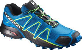 Zapatilla Masculina Salomon - Speedcross 4 Cs M Azul/amarill