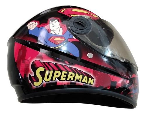 Imagen 1 de 1 de Casco De Moto Para Niño Superman