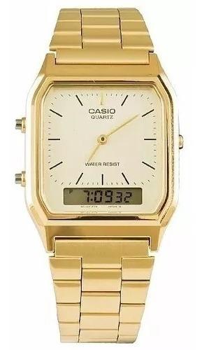 Relógio Anadigi Casio Aq-230ga9dmq Dourado Ponteiro/digital