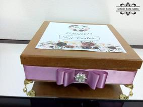 Caixa De Mdf Luxo Para Kit Toalete Tamanho Grande
