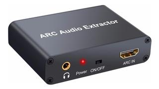 Conversor Extractor De Audio Hdmi Arc A Optico Coaxial Y Rca