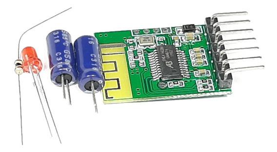 Módulo Receptor De Áudio Bluetooth + Resistor + Led + Capaci