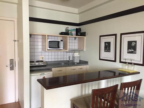 Imagem 1 de 18 de Flat Com 1 Dormitório Para Alugar, 35 M² Por R$ 2.700,00/mês - Alphaville Industrial - Barueri/sp - Fl0020