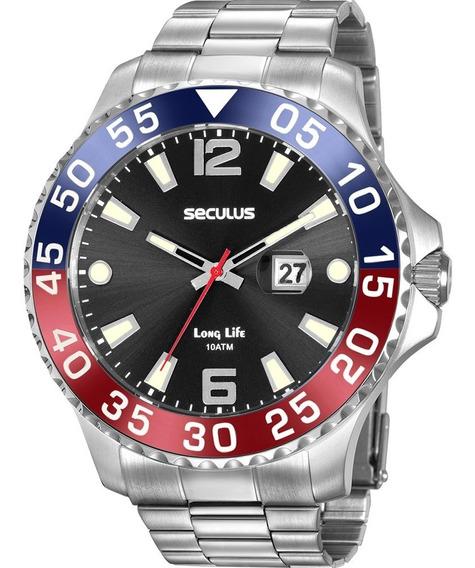 Relógio Seculus Masculino Grande Original