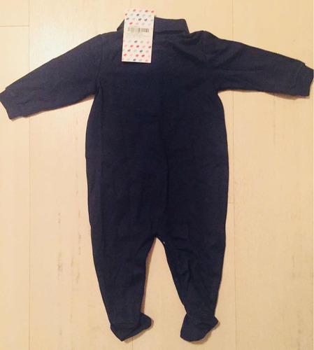 Enterito Baby Cottons Talle 6 Meses Azul Oscuro