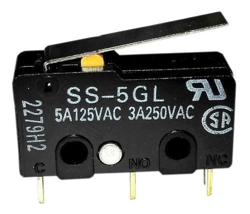 Imagen 1 de 3 de Switch Final Carrera Ss-5gl 5a Micro Limit Switch