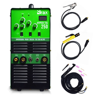Inversora De Solda Tig Mma Ac/dc Para Alumínio Inox 250a