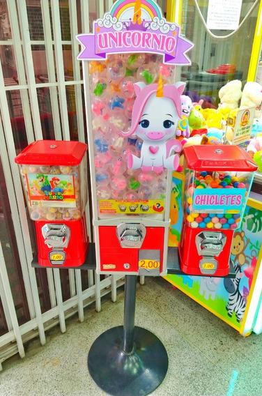 Kit Completo 3 Vending Machine Com Produtos E Brindes