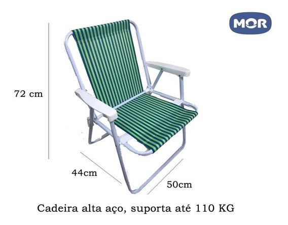 Cadeira Praia, Piscina Mor Polietileno Aço 2002 Verde E Azul