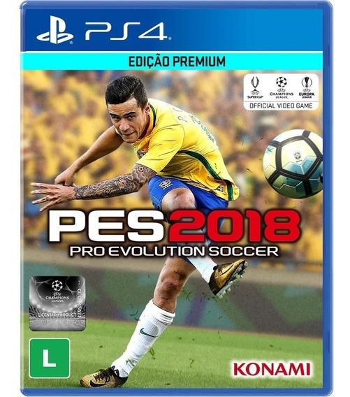 Jogo Pes 2018 Ps4 Mídia Física Cd Game Novo Original Futebol