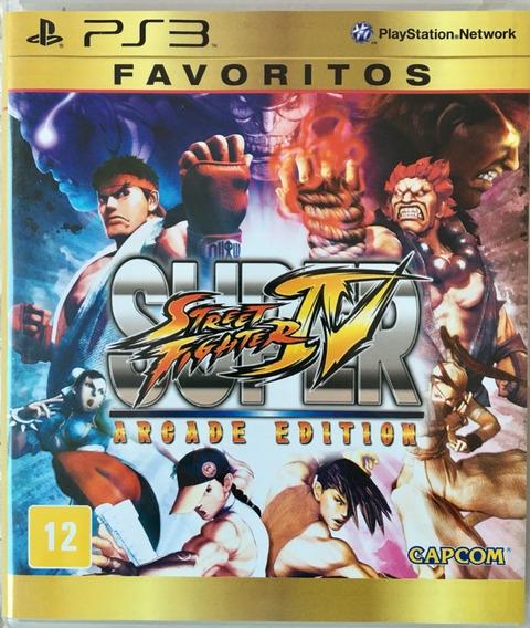 Jogo Super Street Fighter 4 (arcade Edition) Ps3 Mídia Físic