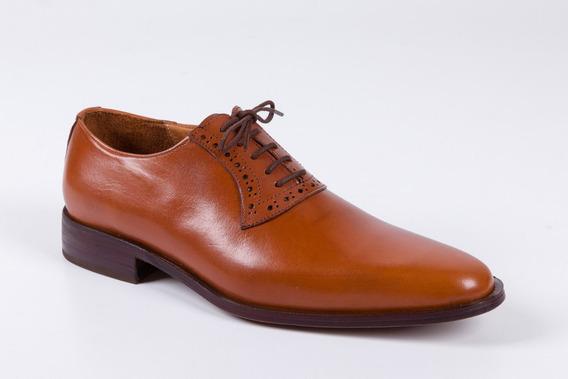 Zapatos De Cuero Para Hombre Color Suela - Modelo Zurich