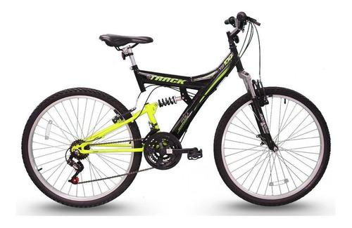"""Mountain bike Track & Bikes TB 100XS aro 26 18"""" 18v freios v-brakes câmbios Track Index cor preto/verde"""