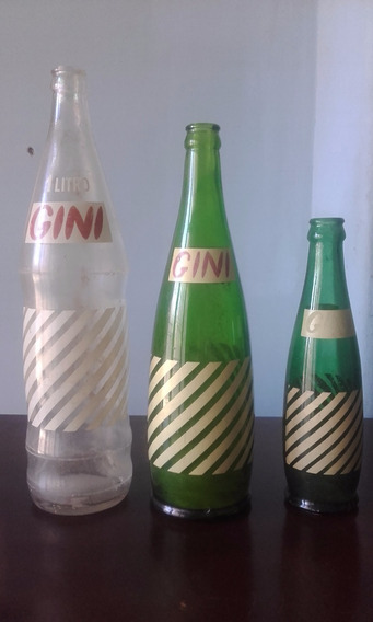 Lote De 3 Botellas Gini 3 Tamaños Muy Buscadas Josecomodoro