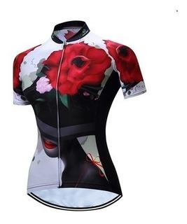 Camisa Ciclismo/mtb Feminino Tamanhos M/g/gg