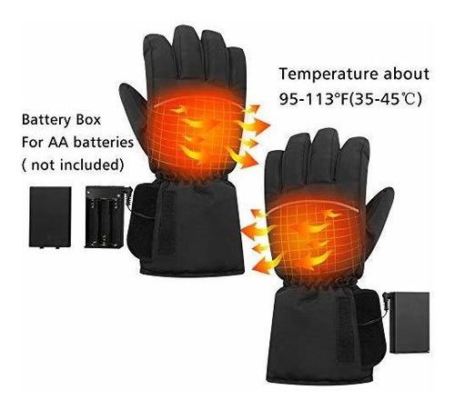 Senderismo VABNEER Guantes Calefactables 3 Modos de Calentamiento Esqu/í para Ciclismo Guantes Moto Calefactables a Bater/ía para Hombres y Mujeres Bater/ía no Incluida Patinaje