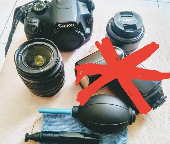 Câmera Fotografica Canon T5 + Lente 18-55 + Lente 35mm Young