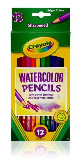 Lápiz Dibujo Acuarelable Largos Crayola T Oficial X12 Col