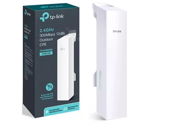 Antena Cpe Exterior Tp-link Cpe220 2,4ghz 300mb 8km