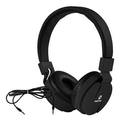 Audifono Para Celular Mox Ajustable Mp3 Musica Negro Nuevo
