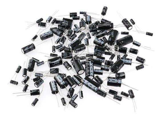 Kit Capacitor Eletrolitico * 235 Pçs * 14 Valores Diferentes