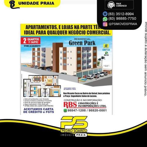 Imagem 1 de 3 de Apartamento Com 2 Dormitórios À Venda, 62 M² Por R$ 167.000 - Ernesto Geisel - João Pessoa/pb - Ap4836