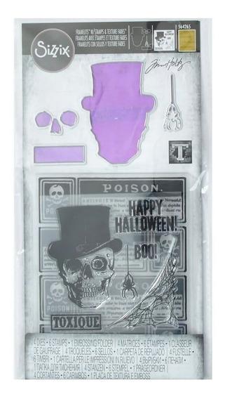 Scrapbook Troquel + Sello+ Embossing Tim Holtz Halloween
