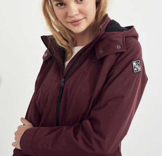 Jacket De Mujer Impermeable Hollister Talla Xs, S, M Y L