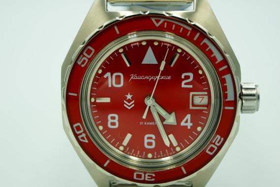 Relógio Vostok Komandirskie Red 650841 2416b Automático