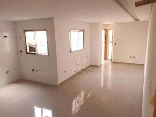Cobertura Com 2 Dormitórios À Venda, 104 M² Por R$ 360.000,00 - Jardim Das Maravilhas - Santo André/sp - Co5447