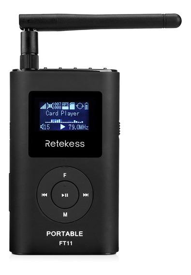 Retekess Ft11 Handheld Fm Transmissor Mp3 Broadcast Radio