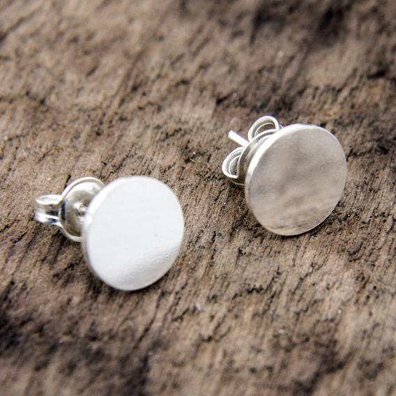 Brincos Circular Feminino Em Prata 950 Polido