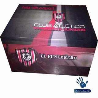 Chacarita Juniors Caja De Madera (15x15x15)