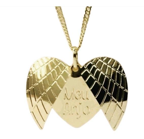 Colar Dourado Meu Anjo (dourado, 45 Cm)